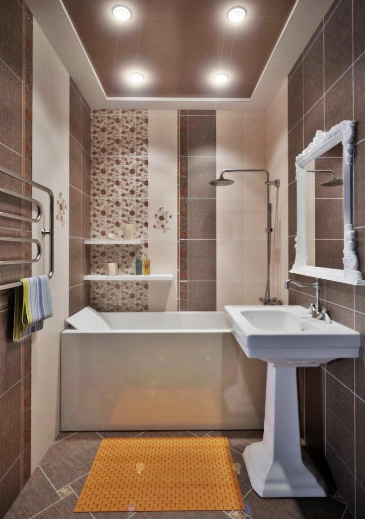 Дизайн ванны кафельной плиткой